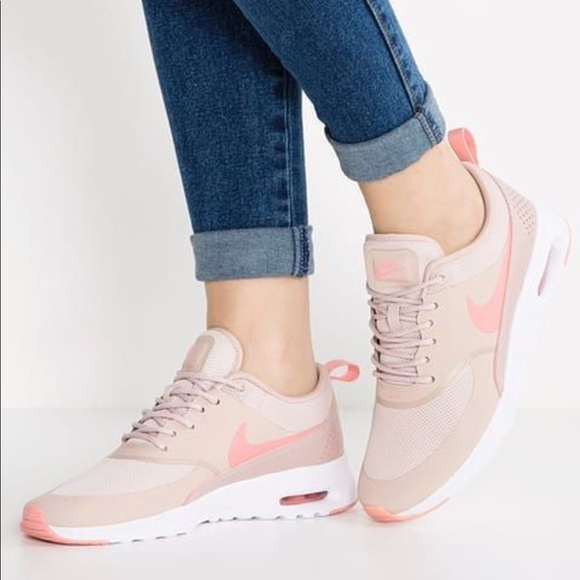 Nike Air Max Thea Pink Oxford & White Sneakers NWT